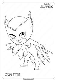 This series debuted in september 2015 and soon went on to become a favorite of children. Printable Pj Masks Owlette Pdf Coloring Page