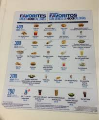 Mcdonalds Drink Calorie Chart Under 400 Calorie Foods Drinks Chart From Mcdonalds Al Com