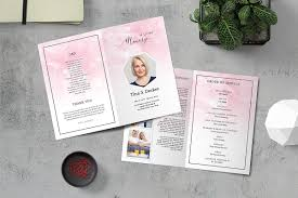 Design Your Own Funeral Program Funeral Program Template