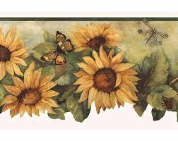 scalloped sunflower wallpaper border