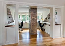 Basement Home Office Basement Office Ideas Home Traditional With Modern Furniture Wood Ceiling Window Treatments A