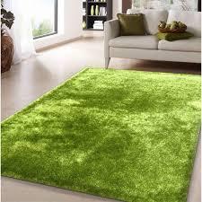 C Amore Lime Green Shag Handtufted Area Rug  8u0026x27