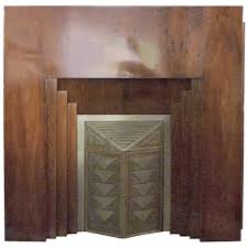 french art deco fireplace mantel 1