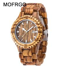clock man wood watch luxury famous bands best mens wrisches quartz black bamboo wooden male watches sport fashion watch s watch