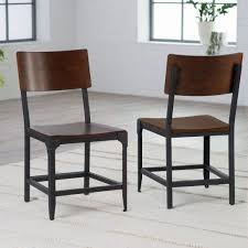 black metal dining chairs. Industrial Metal And Wood Dining Chairs Mixing Black I