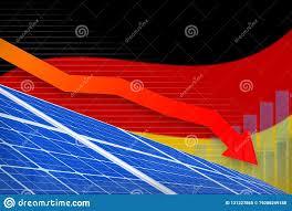 Germany Solar Energy Power Lowering Chart Arrow Down