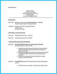 there are several parts of assistant teacher resume to concern before you want to write it parts of a resume