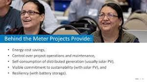 2020 Tribal Energy Webinar Series: Behind-the-Meter Projects | Department  of Energy