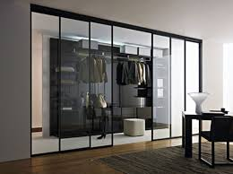 walk closet glass sliding door spacious feel