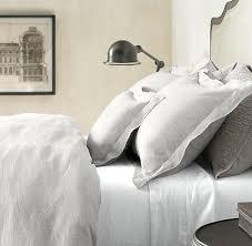vintage washed linen bedding collection restoration hardware mist color for duvet cover boudoir collections linens and