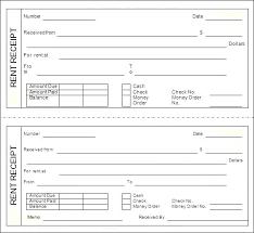 Printable Rent Receipt Receipts House Blank Moontex Co