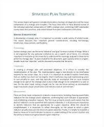 Sales Plan Document Strategic Plan Document Template Marketing Strategy Template Sample