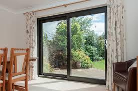 doors exterior sliding doors 3 panel sliding patio door black framed sliding glass door brass