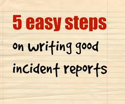 How To Write Incident Reports With Samples New Health Advisor