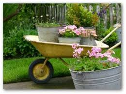 container gardening vegetables. Potted Container Garden On The Move In A Wheel Barrow Gardening Vegetables I