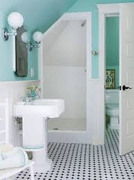 aqua blue bathroom designs. Bathroom , Best Small Designs : With Pedestal Sink And Aqua Blue L