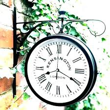 garden clock and thermometer outside outdoor clocks patio large australia a