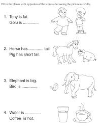 Opposite Words Worksheets for Grade 1 | Homeshealth.info