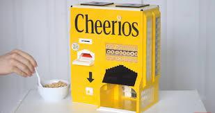 Lego Vending Machine Delectable Brilliant LEGO Vending Machine Dispenses Bowls Of Cheerios Cereal