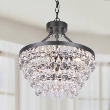 ivana 5 light luxury crystal chandelier in antique bronze for brilliant residence oil rubbed bronze crystal chandelier prepare