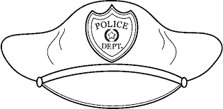 Small Picture Police Officer Hat Coloring Sheet Coloring Pages Ideas