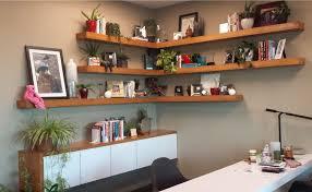 office wall shelving seed branding agency