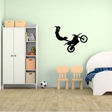 Motocross Bedroom Decor Amazoncom Motocross Wall Decal Sticker 9 Decal Stickers And