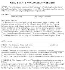 blank real estate purchase agreement real estate offer template agreement to sell unique purchase