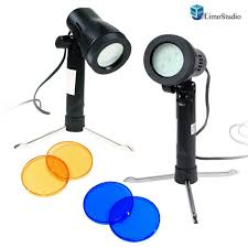 com limostudio 2 sets photography continuous led portable light lamp for table top studio with color filters photography photo studio