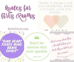 Inspirational Quotes For Girls Quotes for Girls Room Inspirational Quote Ideas for Bedroom Walls 100