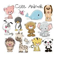 Set of Cute AnimaLs <b>Iron On Transfers</b> For Kids Clothes Sticker ...