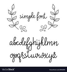 Simple Handwritten Cursive Font