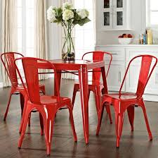 red dining chairs and table. red dining chairs set and table