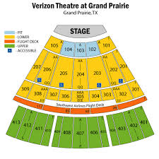 Verizon Theatre Seating Chart Theatre In Dallas