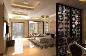Black Retro Wood Fence Design Between Dining Room And Living Room Drawing And Dining Room Designs