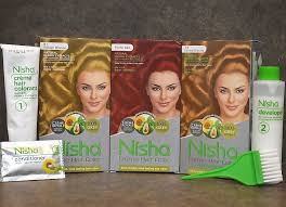 Color Royale Hair Colour Chart New Blonde And Red Shades From Nisha Creme Hair Color Are