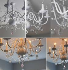 design diy chandelier before after collection also fascinating crystal for beautiful ideas