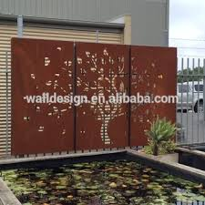 corten steel decorative perforated metal panels used for garden fence t3