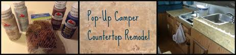popup camper counter top redo