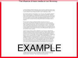 influence of mass media essay co influence