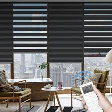 Light Filtering Window Shades Graywind Motorized Zebra Sheer Shades Horizontal Window Shades Light Filtering Roller Shades Freestop Window Blinds With Valance For Smart Home And