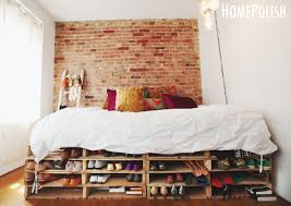 ... Good Looking Bedroom Decoration Using Shipping Pallet Bed Frame :  Delightful Picture Of Bedroom Decoration Using ...