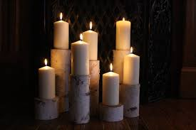 simply fireplace candelabra with seven candles for home accessories ideas