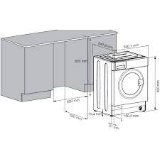 Standard Washing Machine Width Beko Integrated 7kg Washing Machine Wmi71641 Aocom
