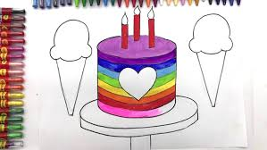 Draw Birthday Cake Online How To A Awesome Chocolate Cartoon And