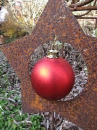 Edelrost Christbaumschmuck Stern Für Kugel Weihnachtsdeko Weihnachtsbaumschmuck
