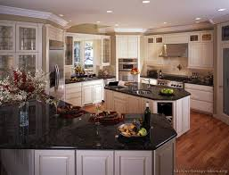 Image Of: White Kitchen Cabinets With Black Granite Countertops