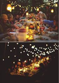 backyard party lighting. overhead lighting i like the idea of a family style dinner backyard party c