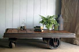 Industrial Factory Cart Coffee Table Antique Cart Coffee Table Home Office Interiors Vintage