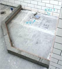 build a custom shower pan shower base bathroom renovation how to build a custom tiled shower
